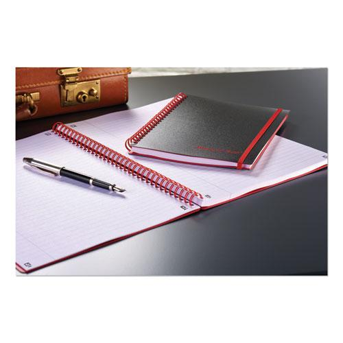 Twin Wire Poly Cover Notebook, Wide/Legal Rule, Black Cover, 8.25 x 5.68, 70 Sheets. Picture 2