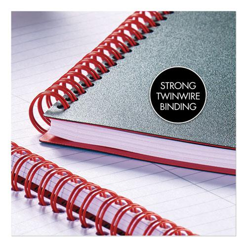 Twin Wire Poly Cover Notebook, 1 Subject, Wide/Legal Rule, Black Cover, 11.75 x 8.25, 70 Sheets. Picture 3