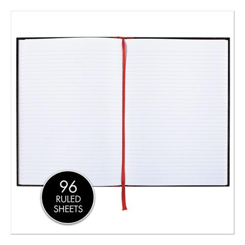 Casebound Notebooks, Wide/Legal Rule, Black Cover, 11.75 x 8.25, 96 Sheets. Picture 2