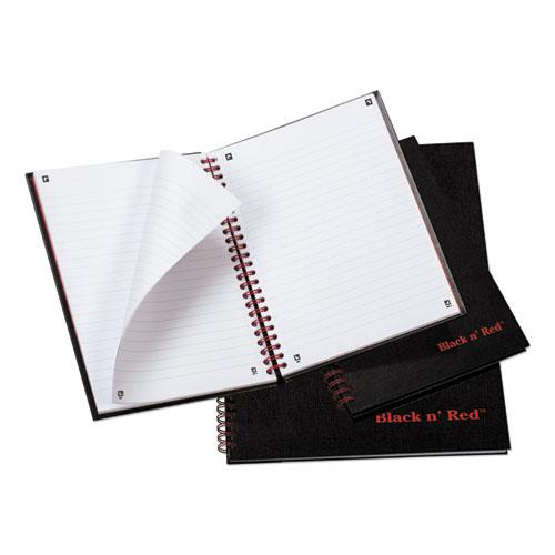 Twinwire Hardcover Notebook, Wide/Legal Rule, Black Cover, 8.25 x 5.88, 70 Sheets. Picture 4