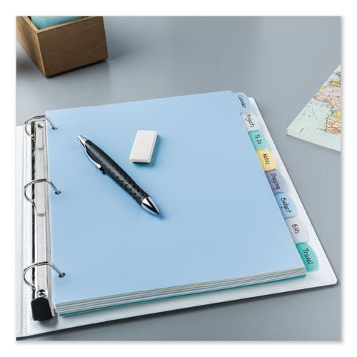 Write and Erase Big Tab Durable Plastic Dividers, 3-Hold Punched, 8-Tab, 11 x 8.5, Assorted, 1 Set. Picture 8