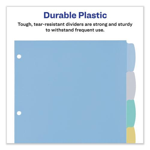 Write and Erase Big Tab Durable Plastic Dividers, 3-Hold Punched, 8-Tab, 11 x 8.5, Assorted, 1 Set. Picture 2
