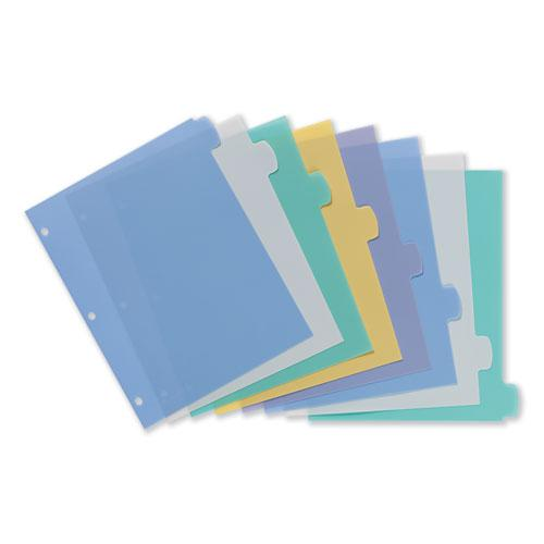 Write and Erase Big Tab Durable Plastic Dividers, 3-Hold Punched, 8-Tab, 11 x 8.5, Assorted, 1 Set. Picture 4