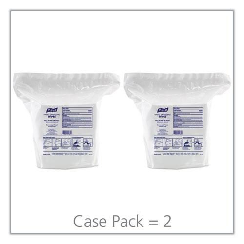 """Hand Sanitizing Wipes, 6"""" x 8"""", White, Fresh Citrus Scent, 1200/Refill Pouch, 2 Refills/Carton. Picture 7"""
