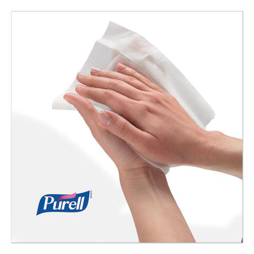 """Hand Sanitizing Wipes, 6"""" x 8"""", White, Fresh Citrus Scent, 1200/Refill Pouch, 2 Refills/Carton. Picture 2"""