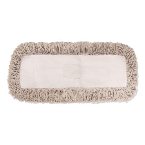Mop Head, Dust, Cotton, 12 x 5, White. Picture 1