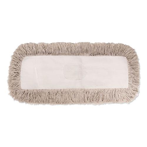 Industrial Dust Mop Head, Hygrade Cotton, 24w x 5d, White. Picture 1