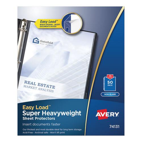 Top-Load Poly Sheet Protectors, Super Heavy Gauge, Letter, Nonglare, 50/Box. Picture 1