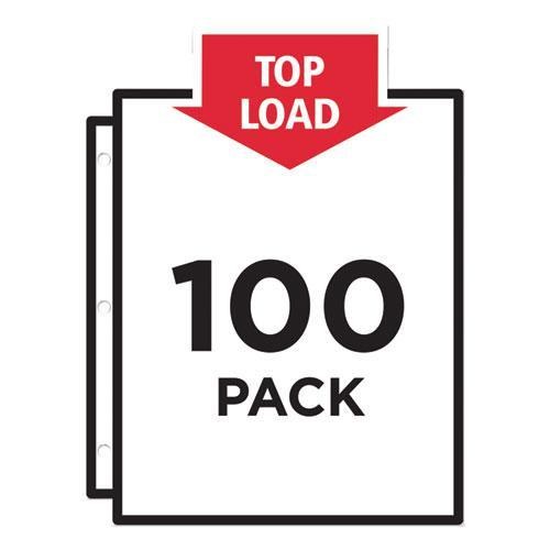 Top-Load Vinyl Sheet Protectors, Heavy Gauge, Letter, Clear, 100/Box. Picture 2