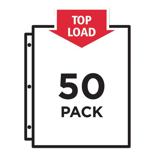 Top-Load Poly Sheet Protectors, Heavy Gauge, Letter, Diamond Clear, 50/Box. Picture 5