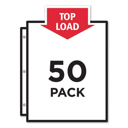 Top-Load Poly Sheet Protectors, Super Heavy Gauge, Letter, Nonglare, 50/Box. Picture 2