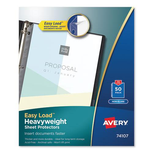 Top-Load Poly Sheet Protectors, Heavy Gauge, Letter, Nonglare, 50/Box. Picture 1