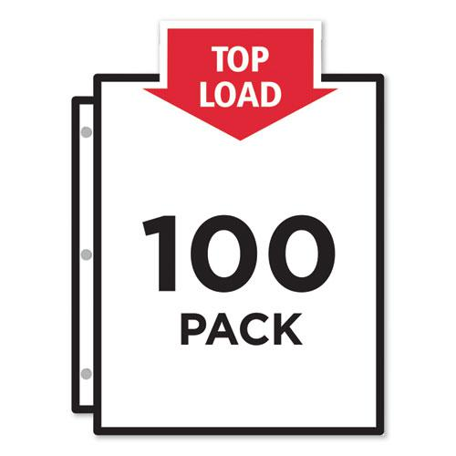 Top-Load Sheet Protector, Economy Gauge, Letter, Clear, 100/Box. Picture 2