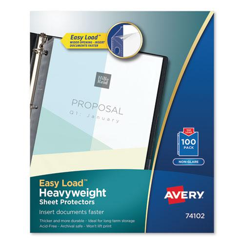 Top-Load Poly Sheet Protectors, Heavy Gauge, Letter, Nonglare, 100/Box. Picture 1