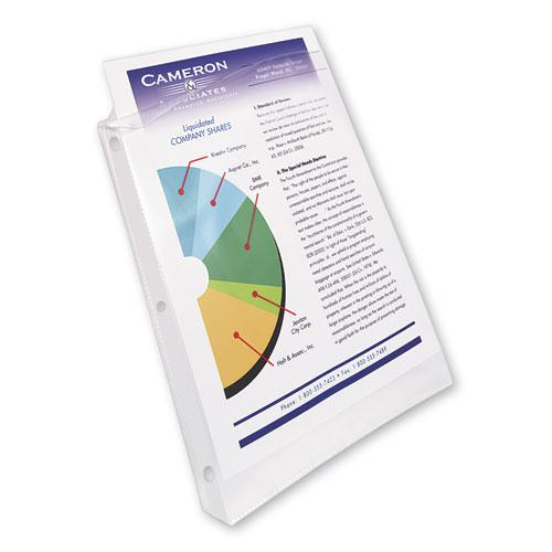 Top-Load Poly Sheet Protectors, Heavy Gauge, Letter, Nonglare, 100/Box. Picture 7