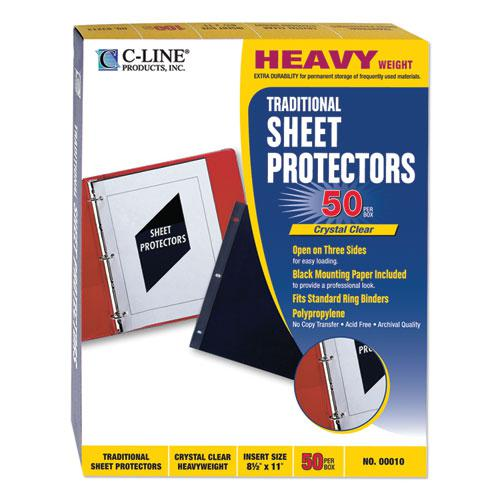 Traditional Polypropylene Sheet Protectors, Heavyweight, 11 x 8.5, 50/Box. Picture 2
