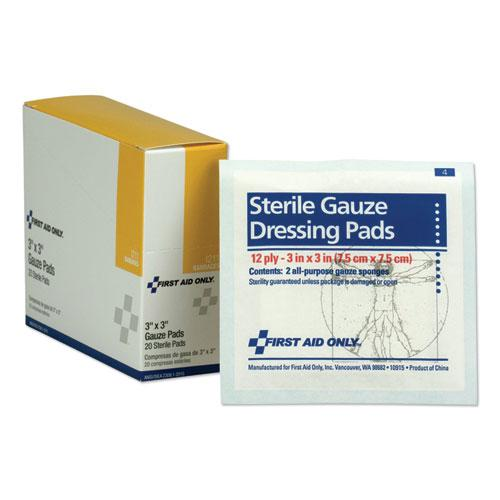 """Gauze Dressing Pads, 3"""" x 3"""", 10/Box. Picture 1"""