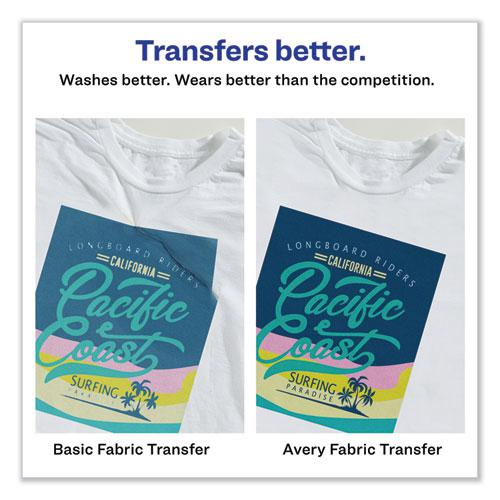 Fabric Transfers, 8.5 x 11, White, 12/Pack. Picture 6