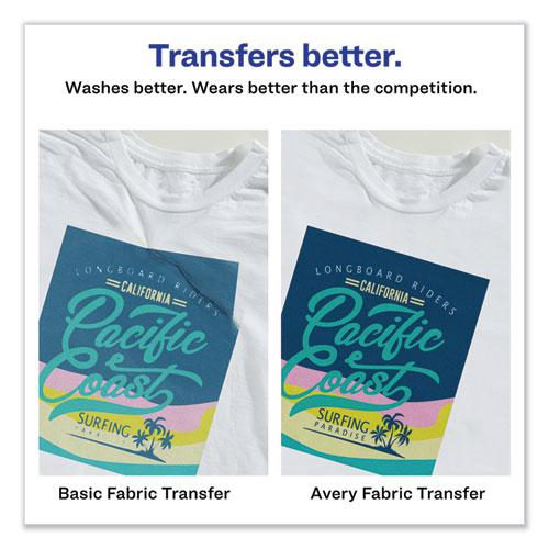 Fabric Transfers, 8.5 x 11, White, 18/Pack. Picture 3
