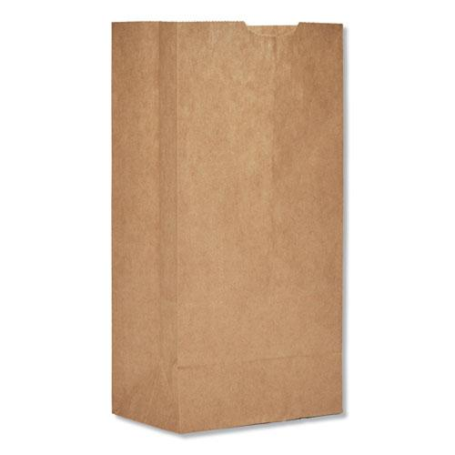 """Grocery Paper Bags, 30 lbs Capacity, #4, 5""""w x 3.33""""d x 9.75""""h, Kraft, 500 Bags. Picture 1"""