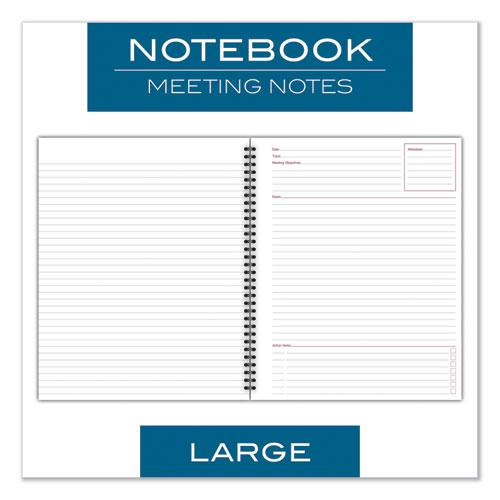Wirebound Guided Business Notebook, Meeting Notes, Dark Gray, 11 x 8.25, 80 Sheets. Picture 3