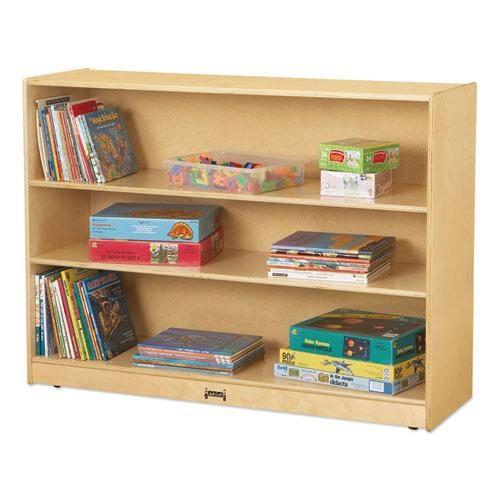 Adjustable Mobile Straight-Shelves, Super-Sized, 48w x 15d x 35.5h, Birch. Picture 1