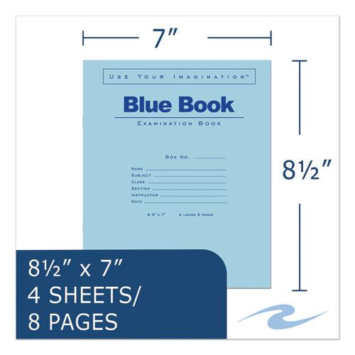 Examination Blue Book, Wide/Legal Rule, 8.5 x 7, White, 4 Sheets. Picture 5