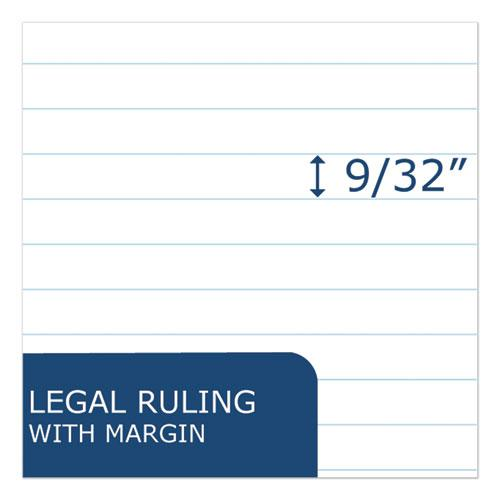 Recycled Legal Pad, Wide/Legal Rule, 8.5 x 11, White, 40 Sheets, Dozen. Picture 3