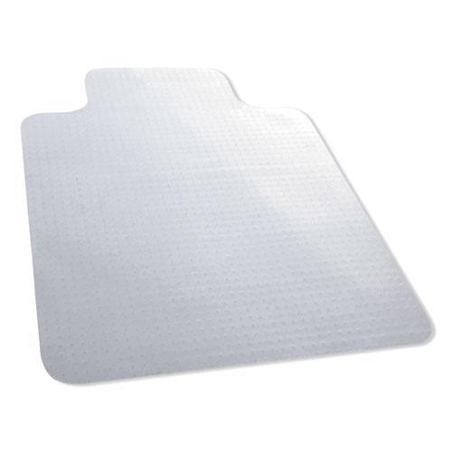 "Carpet Surface Chair Mat, Lip, 36"" x 48"", Clear. Picture 1"
