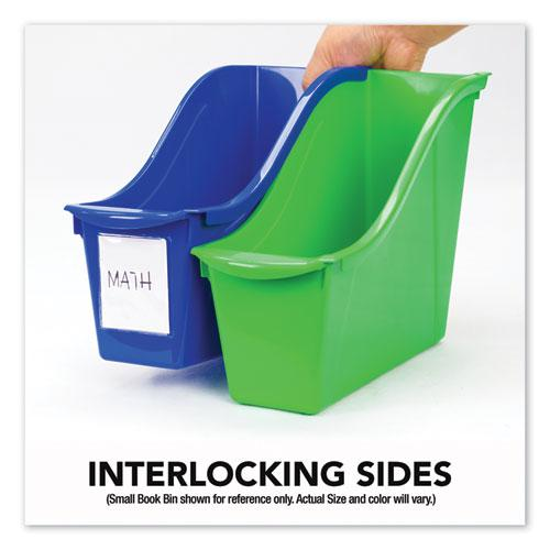 """Interlocking Book Bins, 4.75"""" x 12.63"""" x 7"""", Assorted Colors, 5/Pack. Picture 3"""