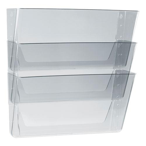 Wall File, Legal 16 x 14, Three Pocket, Clear. Picture 1