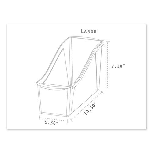 """Interlocking Book Bins, 4.75"""" x 12.63"""" x 7"""", Assorted Colors, 5/Pack. Picture 7"""