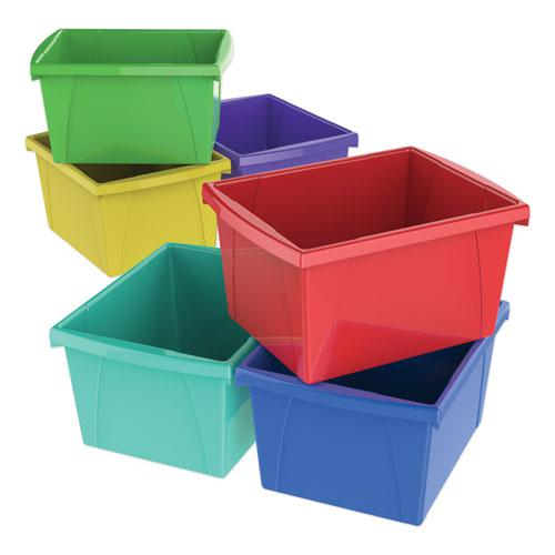 """Storage Bins, 4 gal, 10"""" x 12.63"""" x 7.75"""", Randomly Assorted Colors. Picture 1"""