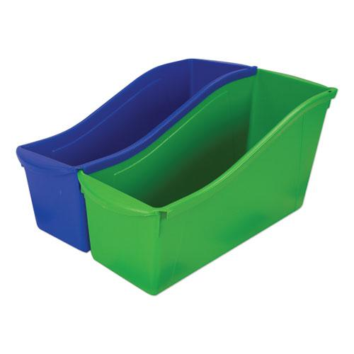 """Interlocking Book Bins, 4.75"""" x 12.63"""" x 7"""", Assorted Colors, 5/Pack. Picture 6"""