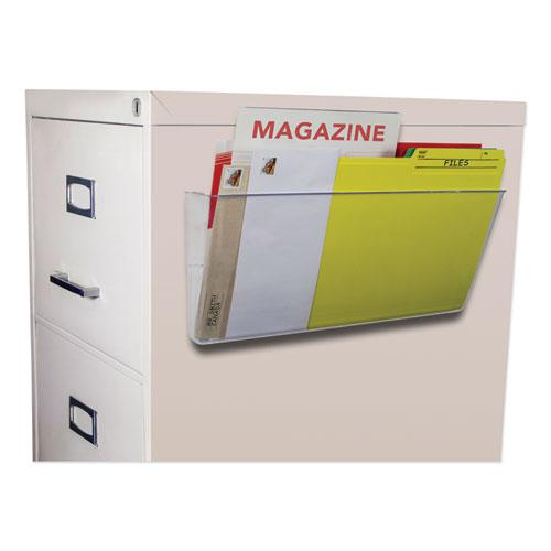 Unbreakable Magnetic Wall File, Letter/Legal, 16 x 7, Single Pocket, Clear. Picture 2
