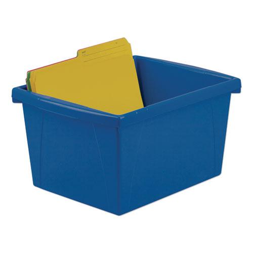 """Storage Bins, 4 gal, 10"""" x 12.63"""" x 7.75"""", Randomly Assorted Colors. Picture 3"""
