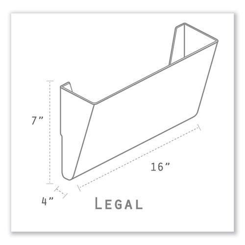 Wall File, Legal 16 x 14, Three Pocket, Clear. Picture 2