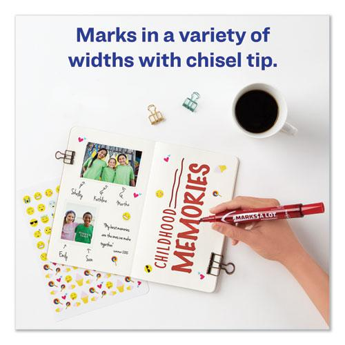 MARKS A LOT Large Desk-Style Permanent Marker, Broad Chisel Tip, Red, Dozen, (8887). Picture 6