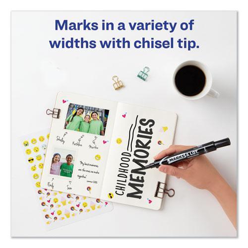MARKS A LOT Large Desk-Style Permanent Marker, Broad Chisel Tip, Black, Dozen, (8888). Picture 9