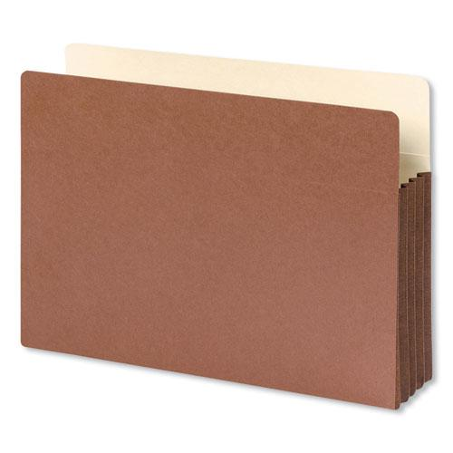 """Redrope Drop-Front File Pockets w/ Fully Lined Gussets, 3.5"""" Expansion, Legal Size, Redrope, 10/Box. Picture 1"""