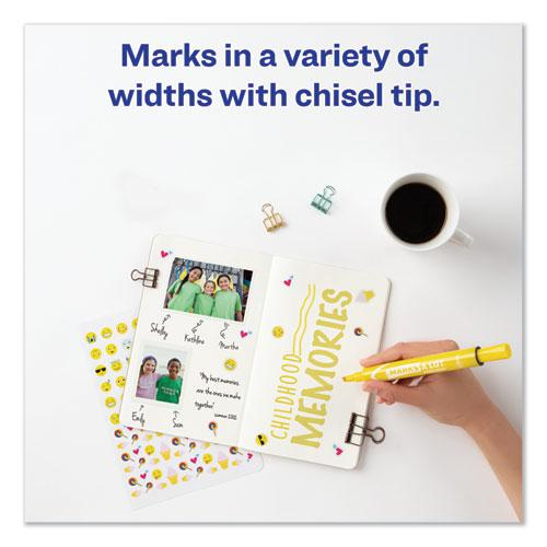 MARKS A LOT Large Desk-Style Permanent Marker, Broad Chisel Tip, Yellow, Dozen, (8882). Picture 4
