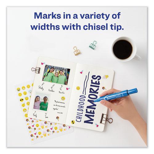MARKS A LOT Regular Desk-Style Permanent Marker, Broad Chisel Tip, Blue, Dozen, (7886). Picture 9