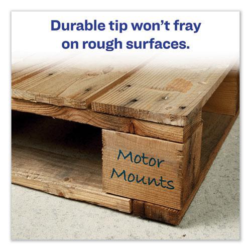 MARKS A LOT Large Desk-Style Permanent Marker, Broad Chisel Tip, Blue, Dozen, (8886). Picture 7