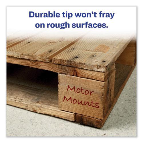 MARKS A LOT Regular Desk-Style Permanent Marker, Broad Chisel Tip, Red, Dozen, (7887). Picture 2