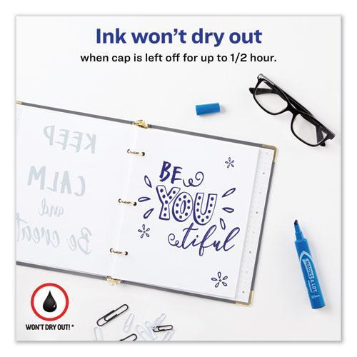 MARKS A LOT Regular Desk-Style Permanent Marker, Broad Chisel Tip, Blue, Dozen, (7886). Picture 6