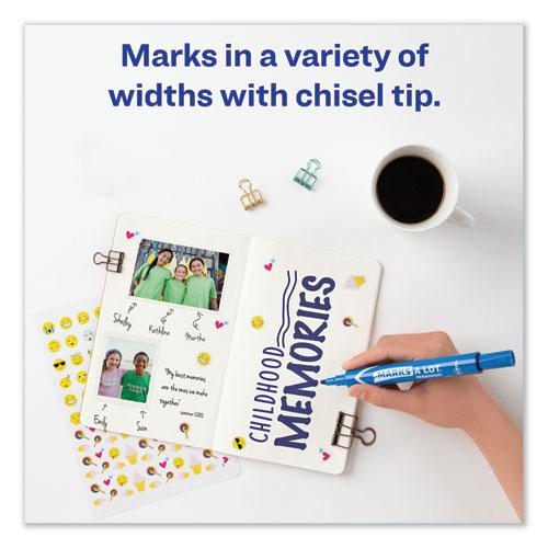 MARKS A LOT Large Desk-Style Permanent Marker, Broad Chisel Tip, Blue, Dozen, (8886). Picture 4