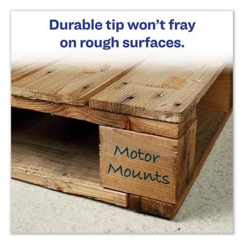 MARKS A LOT Regular Desk-Style Permanent Marker, Broad Chisel Tip, Blue, Dozen, (7886). Picture 2