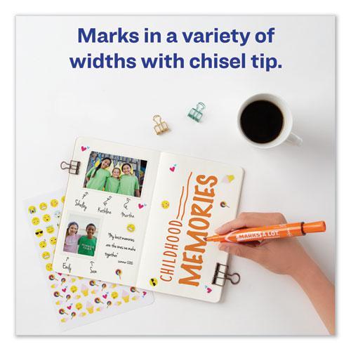 MARKS A LOT Large Desk-Style Permanent Marker, Broad Chisel Tip, Orange, Dozen, (8883). Picture 7
