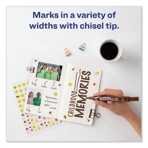 MARKS A LOT Large Desk-Style Permanent Marker, Broad Chisel Tip, Brown, Dozen, (8881). Picture 8