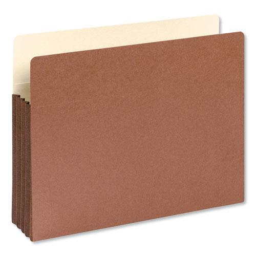 """Redrope Drop-Front File Pockets w/ Fully Lined Gussets, 3.5"""" Expansion, Letter Size, Redrope, 10/Box. Picture 1"""